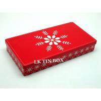 Custom Rectangle Box Straight Corner With Printing And Embossing , Gift Tin Box