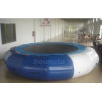 China 5m Diameter Inflatable Aqua Jumping Trampoline With Solid Net on sale