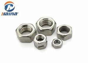 China DIN934 Hex head nut Stainless Steel SS304 A2-70 Plain Color M6 Metric Thread on sale