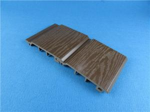 China Mouldproof Wood Plastic Composite WPC Exterior Wall Cladding Grey Color on sale