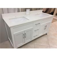 "61"" Quartz Bathroom Vanity Countertops Double Sink , Quartz Slab Countertops"