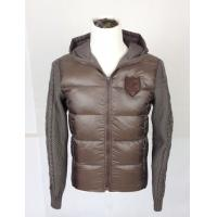 Woven and knitted patchwork Mens Padded Coat  with personalized LOGO