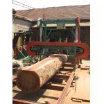 la banda de madera de la máquina del serrería-mundo vio la serrería horizontal portátil usada corte del registro en venta
