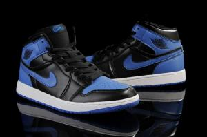 China Top quality cheap air jordan 1 shoes with air max inside black blue color on sale