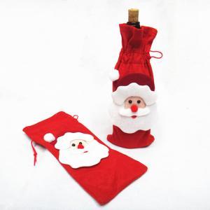 China Christmas santa bag for Red Wine Bottle Cover on sale