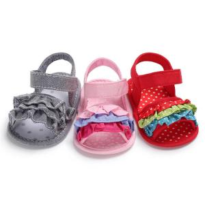 China Wish hot soft-sole Lace flower 0-18 months baby Newborn shoes toddler sandals on sale
