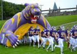 Пурпуровый раздувной тоннель футбола игр спортов для случая/рекламы