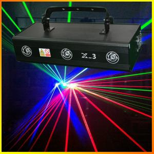 China Three lens 700mW X-3 RGB Full Color Laser Light Pro Stage Lighting DJ Party indoor Entainment Effect Lights on sale