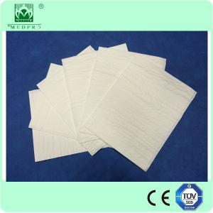 China Hospital doctor use Disposable wood pulp white surgical hand towel on sale
