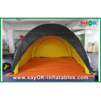 Durable Inflatable Camping Tent Black Outside Yellow Inside Customized