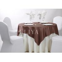 Simple Design Woven High Density Hotel Table Cloth , Beautiful Wedding Tablecloth