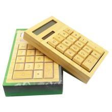 China 2016 new hot product natural bamboo calculator 8 digits , bamboo wood calculator factory price directly on sale