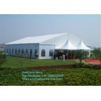 Hexagonal Outdoor Event Tents , Aluminum Frame Backyard Party Tent With Clear Window