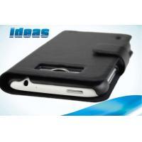 China Black HTC Leather Phone Case Wallet for HTC Sensation XL X315e on sale