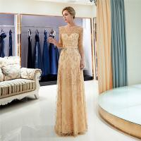Gold Color Adults Ladies Evening Dresses , Breathe Freely Womens Evening Gowns