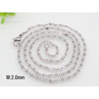 Stainless Steel Small Link Chain Necklece 1520294