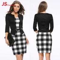 China JS 20 In Stock Best Selling 2018 Sexy Mature Women Office Dress Custom Knit Two Piece Dresses 708 on sale