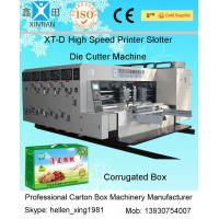 China Four Colour Flexo Printer Corrugated Carton Machinery Die - Cutter With Stacker on sale