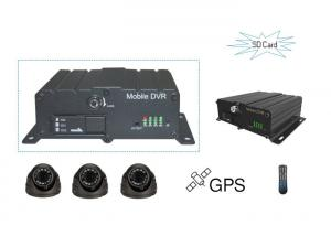 China Real Time Monitor SD Card Mobile DVR 4 Channel vehicle DVR With 2 SD Card Slots on sale