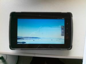 China Android 125KHZ RFID Reader Rugged Tablet PCS Handheld with Fingerprint Reader on sale