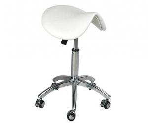 China Ergonomic Saddle Seat Office Chair Stool , White Saddle Leather Chair Swivel Freely on sale