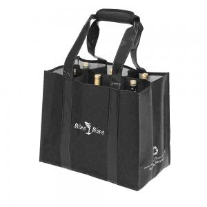 China Environmental reusable jute wholesale wine bags 6 Bottle Wine Bag Wholesale Customizable LOGO Wine Carrier Tote Bag on sale