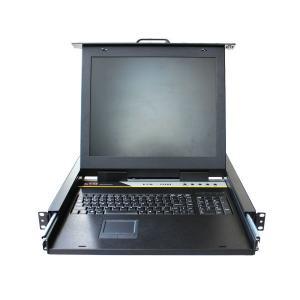 China Steel Plate 1U Rack Mount 15 TFT LCD W/ 8 Port KVM Switch LCD KVM Drawer KVM-1508M on sale