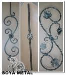 Ornamentos de la cerca del metal