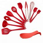 Eco - Friendly Silicone Kitchen Set , Silicone Cooking Utensil Set Durable