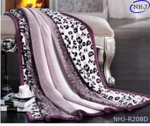 China NHJ Leopard print mink plush blanket on sale