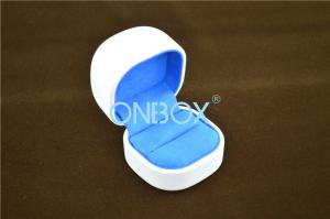 China Metal Core Leather Jewelry Boxes Tiffany Blue Suede Lining beautiful box packaging on sale
