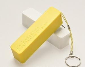 China Yellow / Red 3000mAh  Portable USB Power Bank  For Mobile Devices  With Hang Rope on sale
