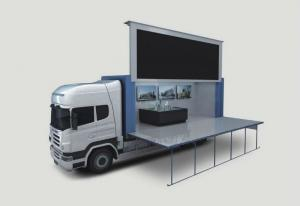 Quality Multi - media P10 Outdoor Mobile LED Screen Display Full Color Advertising 220V for sale
