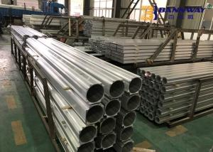China Silver Aluminium Extruded Profiles High Strength For Construction Buildings on sale