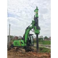 Small Rotary Piling Rig for Different Construction Stratum , Hydraulic Drilling Rig