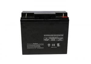 China Rechargeable Black Flooded Lead Acid Battery For LED Lamp 12V 18Ah on sale