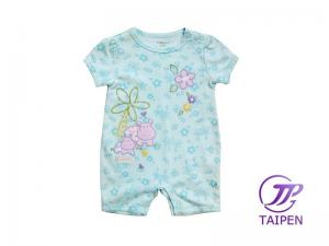 Safe 100 Cotton Anti Pilling Short Sleeve Newborn Baby Romper