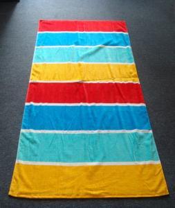 China 100% Cotton Hawaii Stipe Beach Towels on sale