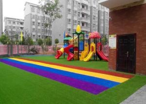China Anti UV Autumn Spring Coloured Artificial Grass Synthetic Turf SGS CE Certification on sale
