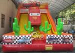 6m high kids extreme speed race inflatable car slide for kids outdoor entertainment
