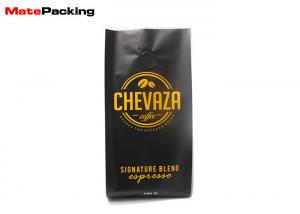 China Moisture Proof Foil Gusseted Coffee Bags , Aluminum Gusseted Plastic Bags With Valve on sale