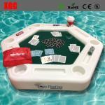 Plastic Outdoor Amusement Equipment Luminous Swimming Pool Floating Poker Table