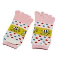 Healthy Cute Cotton Five Fingers Ankle Toe Socks WIth Bee Pattern,Colorful Dot for Ladies