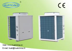 China 8~39 kw R410a High Efficiency Heat Pump Swimming Pool Blue Aluminum Fins Color Steel Plate Heat Pump on sale