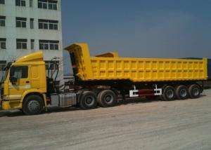 China 3 BPW Axles And Hydraulic End Dump Truck with 42 Cbm Capacity Volume on sale