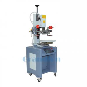 China automatic carousel conveyor hot stamping machine for lids and caps on sale