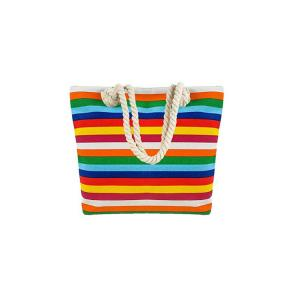 China Beach Bag, Large Beach Totes for Women with Top Zipper and Cotton Handle on sale