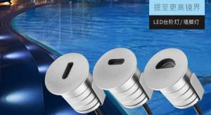 China 1W Mini DC12V Outdoor Stair Lighting Recessed Landscape Spotlights Deck Stair Lights Interior Outdoor Led Step Lights Le on sale