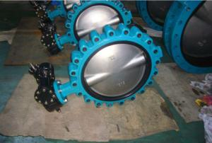 Quality Full Bore Butterfly Valve Ss304 , Cast Iron Butterfly Control Valve for sale