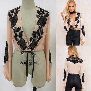 China New fashion women tops puffed long sleeve ladies blouse designs on sale